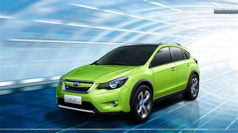 Subaru Xv Concept Green Color In Tunnel Wallpaper