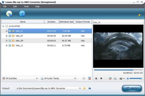 format video bluray leawo blu ray to mkv converter rip and convert blu ray