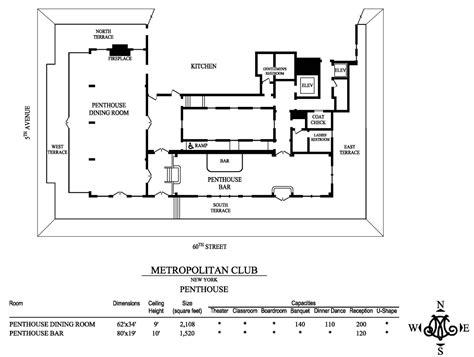 club floor plans floor plans capacities metropolitan club of new york