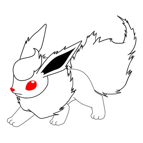 pokemon coloring pages flareon how to draw flareon draw central