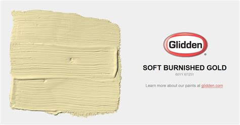 soft burnished gold paint color glidden paint colors