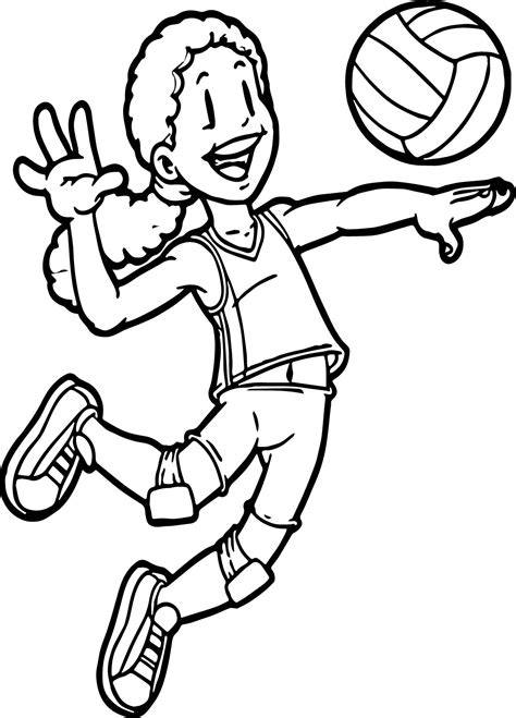 coloring pages volleyball girl 81 coloring page volleyball realistic coloring page