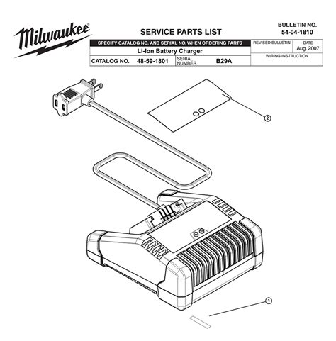 resetting milwaukee battery buy milwaukee 48 59 1801 b29a replacement tool parts