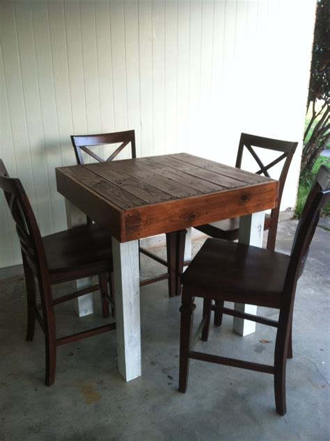 pub dining table reclaimed wood dining table upcycled pub size pallet wood