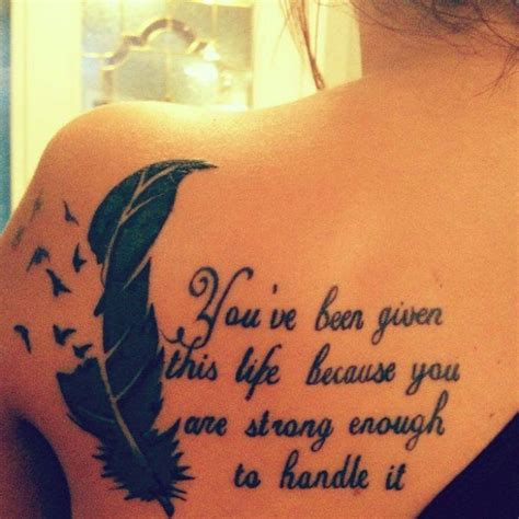tattoo love handles tattoo you ve been given this life because you are srtong