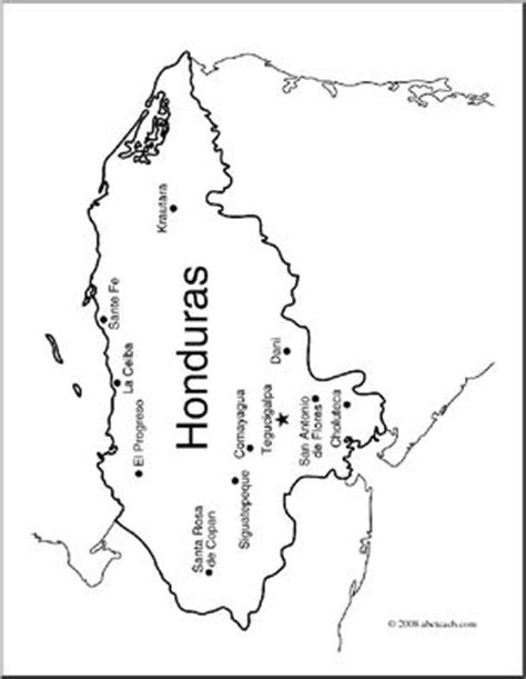 honduras map coloring page clip art honduras map coloring page labeled 1 abcteach