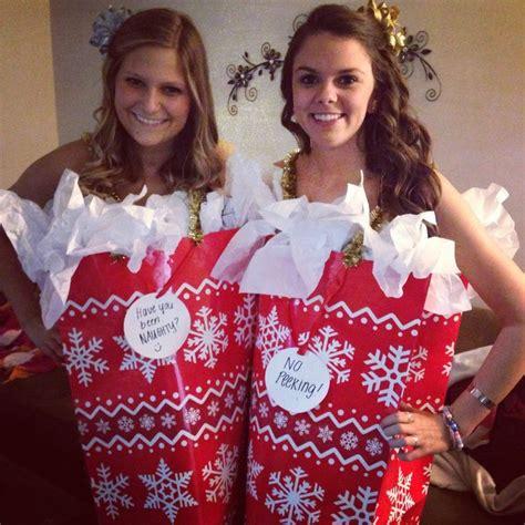 christmas gift bag costume diy christmas costume