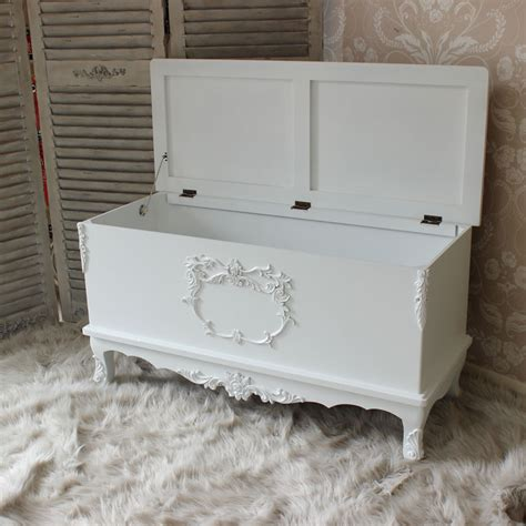 top 28 white shabby chic blanket box hope chest in my