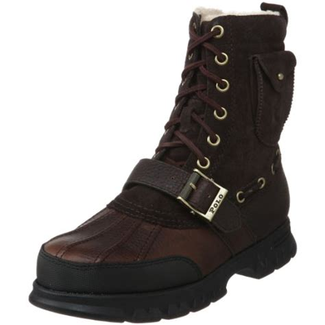 cheap polo boots polo ralph mens hamlin shearling lace up boot