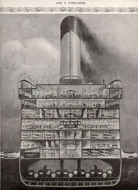 Titanic Section by History In Pictures On Quot Cross Section Titanic