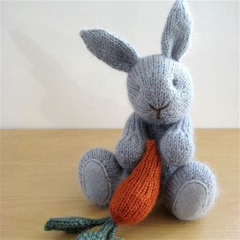 knitted rabbit bitsycreations september 2010