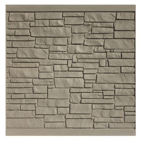 simtek fence 6 h x 6 w decorative rock fence panel at