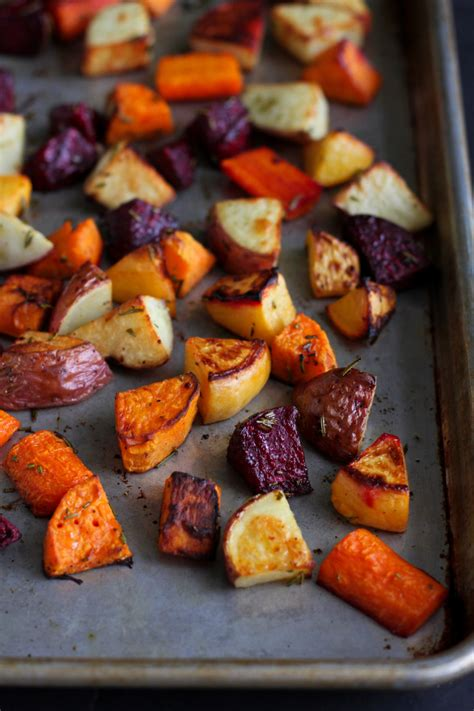 h and w vegetables roasted rosemary root vegetables by dara the pioneer