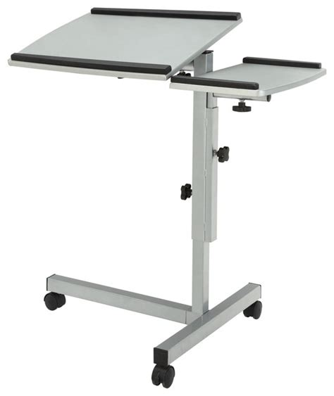 angle and height adjustable mobile laptop computer stand