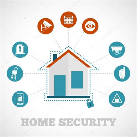 home security icon flat stock vector 169 macrovector 59961075