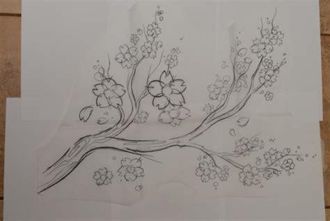 gambar sketsa bunga indah sakura mawar melati