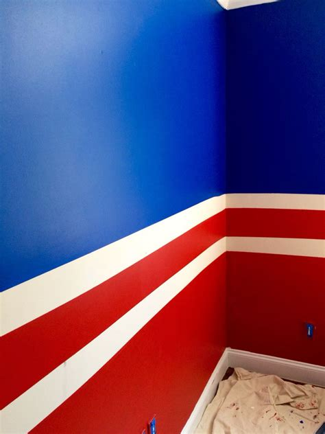 my sons newly painted bedroom new york rangers colors home home improvement in 2019 boys