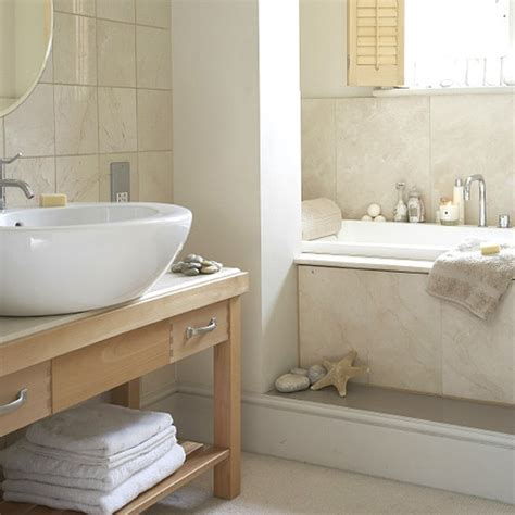 small contemporary bathroom neutral bathroom with circular basin housetohome co uk