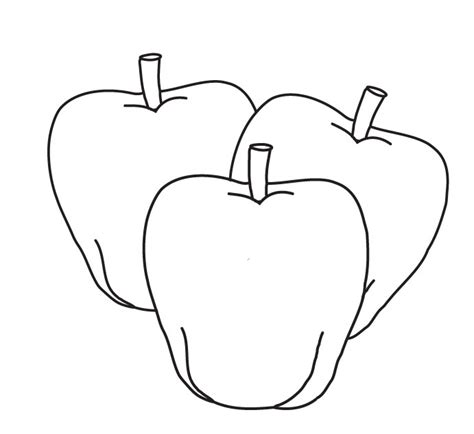 apple picture coloring page coloring apple