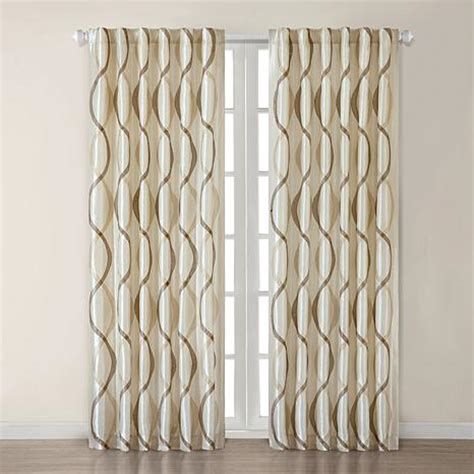madison park marcel curtain panel marcel 84 inch window panel ivory hsn