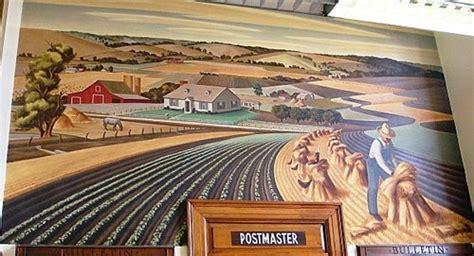 Farmersville Post Office by Farmersville Post Office Mural Soil Conservation