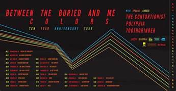 between the buried and me colors between the buried and me announces colors ten year