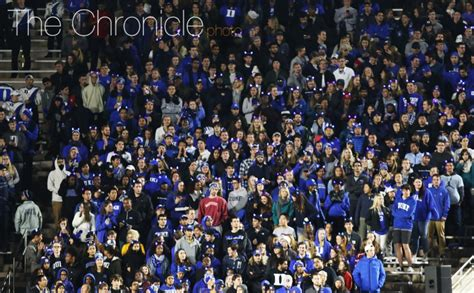 Duke Student Section by Undergraduate Student Attendance For Duke S Basketball Drops Time Despite High Interest