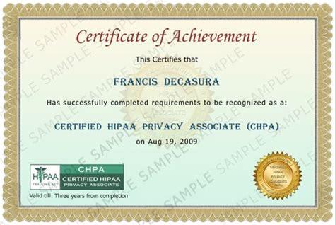 hipaa certificate template hipaa hipaa certification hipaa
