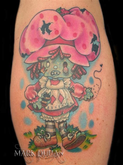 strawberry shortcake tattoo strawberry shortcake by amduhan on deviantart