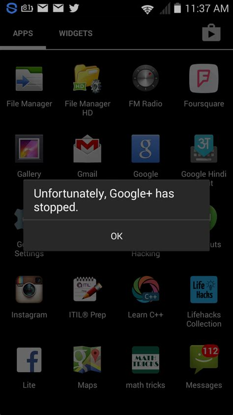not working android app error quot unfortunately has stopped quot fixed android reandroid