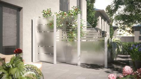 2 Zaundesign Terrasse System Glas Traumgartenplaner