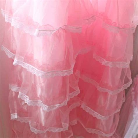 pink ruffle shower curtain lace ruffled curtain