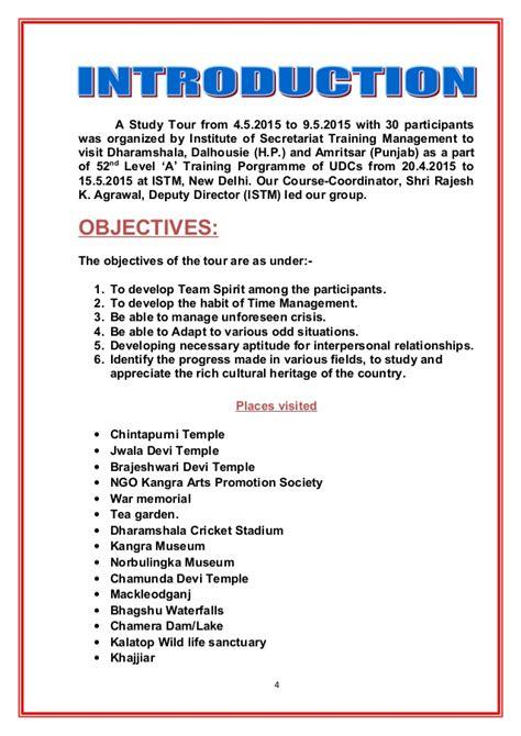 tour report sle format study tour report 13 5 2015