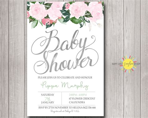Baby Shower Invitaitons by Personalised Baby Shower Invitations Australia For Baby