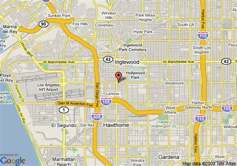 map  ramada limited lax airport east inglewood