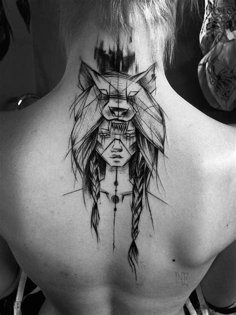 warrior girl tattoo designs impressive black and white sketch tattoos fubiz media
