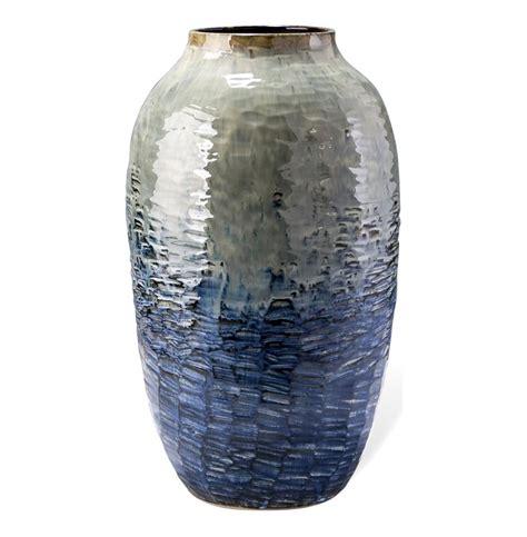 Blue Gray Vase Belmont Contemporary Blue Gray Olive Vase 24 Quot H