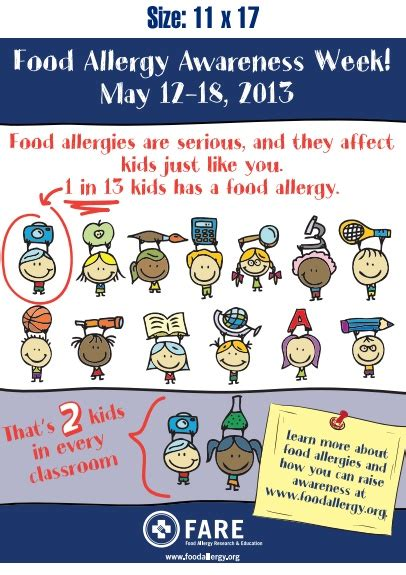printable allergy poster 17 best images about food allergy stuff on pinterest
