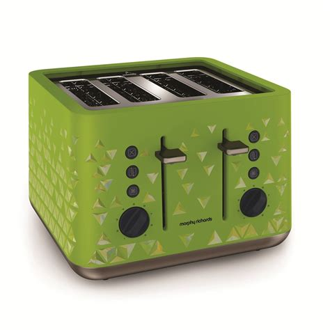 Green Toaster Prism Green 4 Slice Toaster By Morphy Richards Toasters