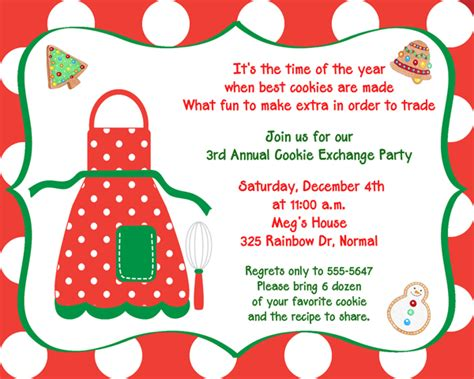 cookie invitation template cookie exchange invitations