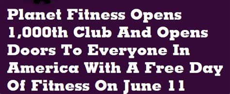 Planet Lulu 0pens Tomorrow by Free Day Of Fitness June 11th Only At Planet Fitness