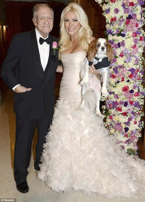 Hugh Hefner Shares His Fashion Tips by Harris Shares Photos Of The Fishtail Gown She Wore