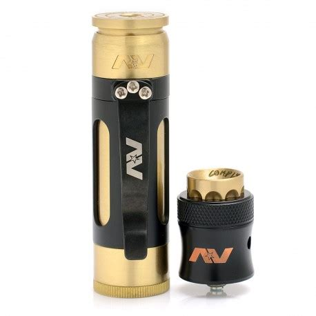 Paket Ngebul Mechanical Av Lyfe Mod Kit Rda Druga Lg Charger Liquif lyfe clip mini style mechanical mod brass black kit w av style rda