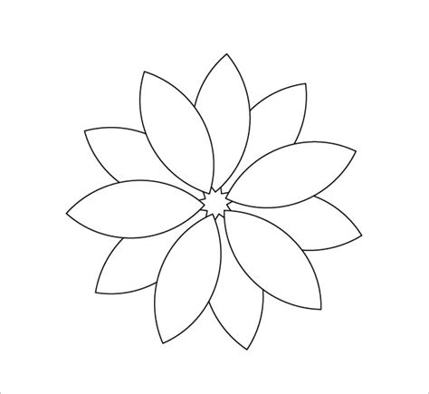flower stencil template flower petal template 27 free word pdf documents