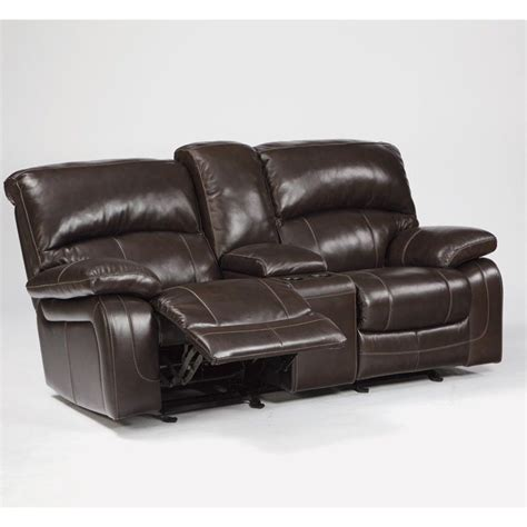 ashley furniture power recliners ashley furniture damacio leather power reclining loveseat