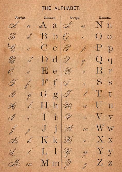 Free Printable Victorian Alphabet Letters | school alphabet chart images
