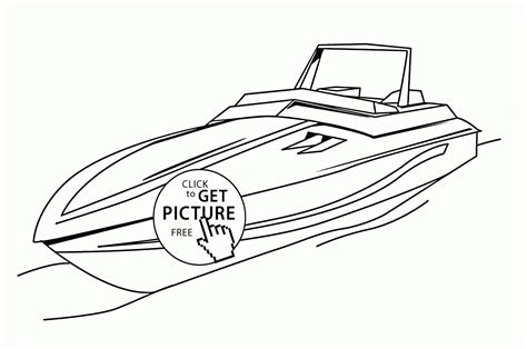 speed boat colouring pages www imgkid com the image