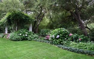 back yard shade garden traditional landscape santa