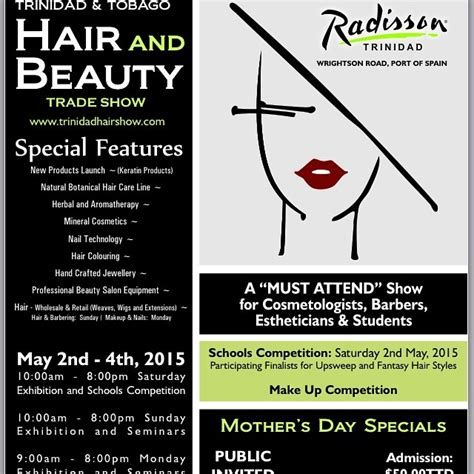 hair and nail trade show or events 2015 trinidad and tobago hair and beauty trade show 2015 id 13827