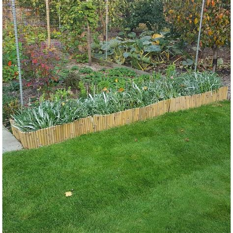 edging for japanese gardens decorative bamboo edging 6 pack the garden factory